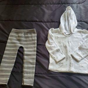 girl 3t set hoodie and pants